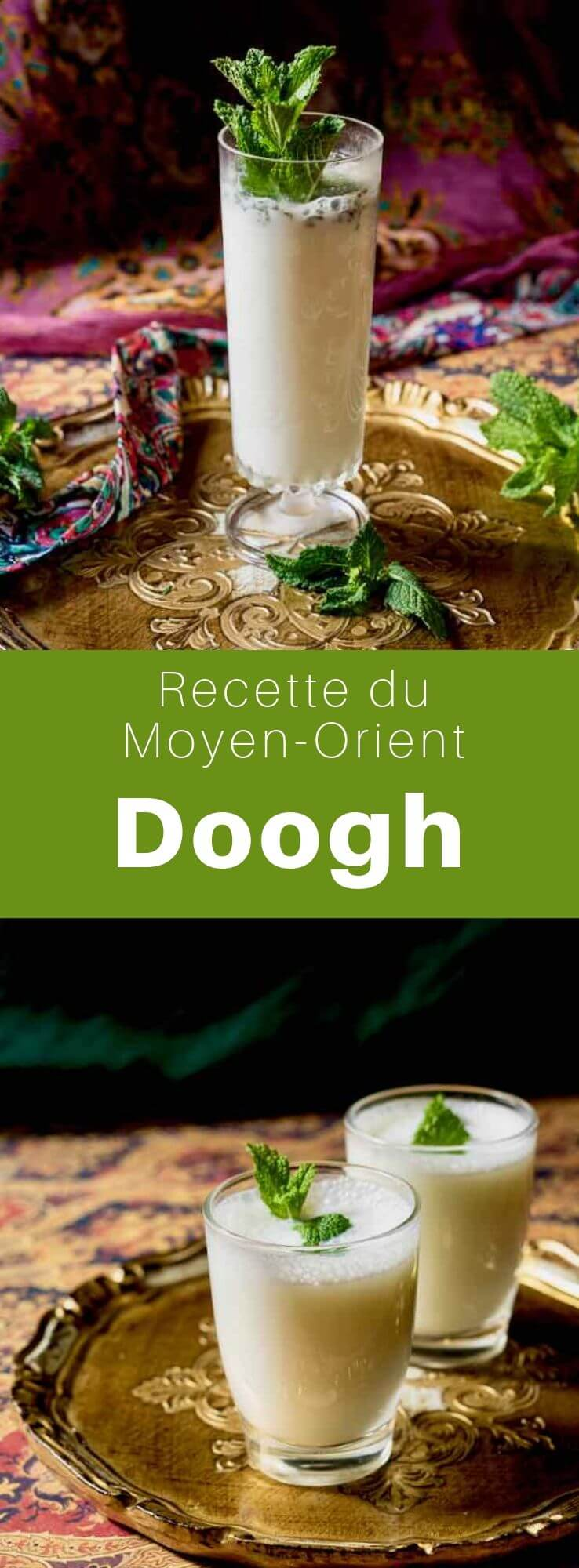 Le doogh appelé également ayran ou tan est une boisson salée au yaourt de chèvre ou de brebis populaire surtout en Syrie, au Liban et en Turquie. #CuisineSyrienne #RecetteSyrienne #Syrie #CuisineMoyenOrientale #MoyenOrient #CuisineArabe #RecetteArabe #CuisineDuMonde #196flavors