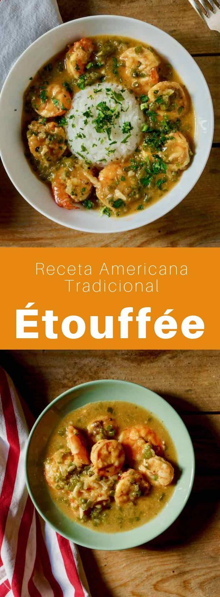 La étouffée es un delicioso plato tradicional de Luisiana con colas de cangrejo de río cocinadas en una sabrosa salsa de mantequilla con hierbas y especias.