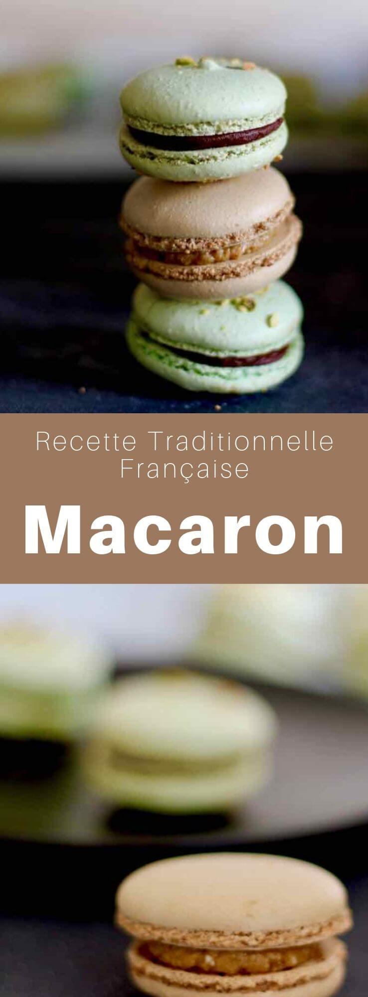 Le macaron, dit macaron parisien, est un petit gâteau à l'amande, granuleux et moelleux, un pillier de la pâtisserie française. #France #RecetteFrancaise #CuisineFrancaise #PatisserieFrancaise #CuisineDuMonde #196flavors