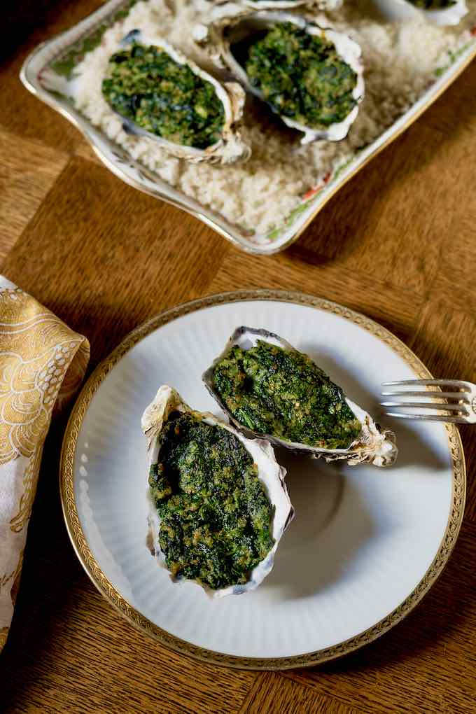 authentic oysters Rockefeller