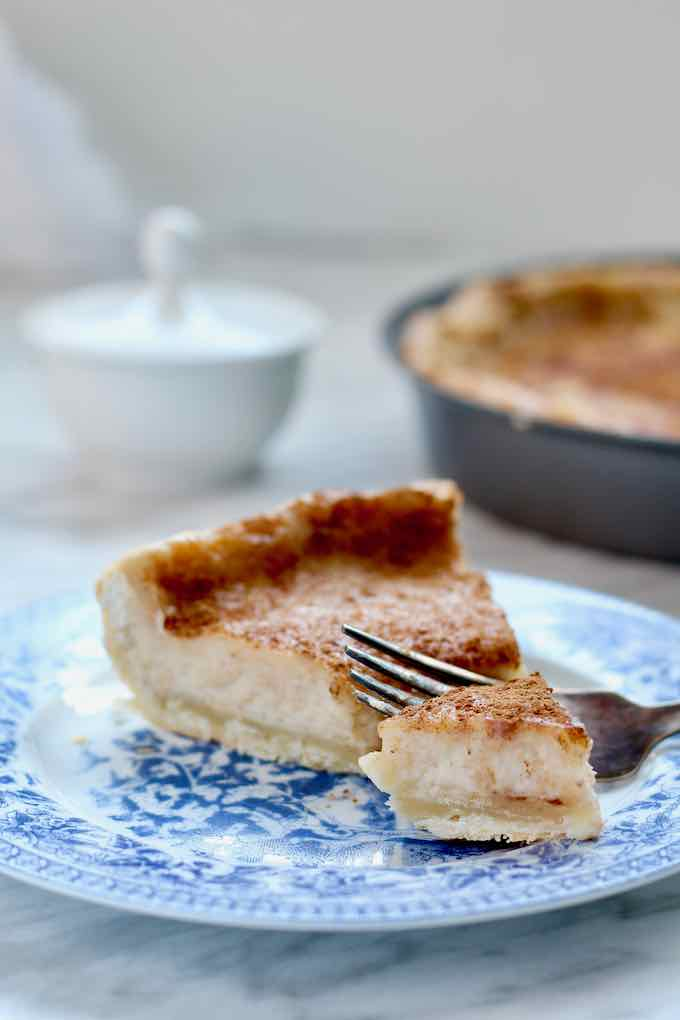 traditional sugar cream pie