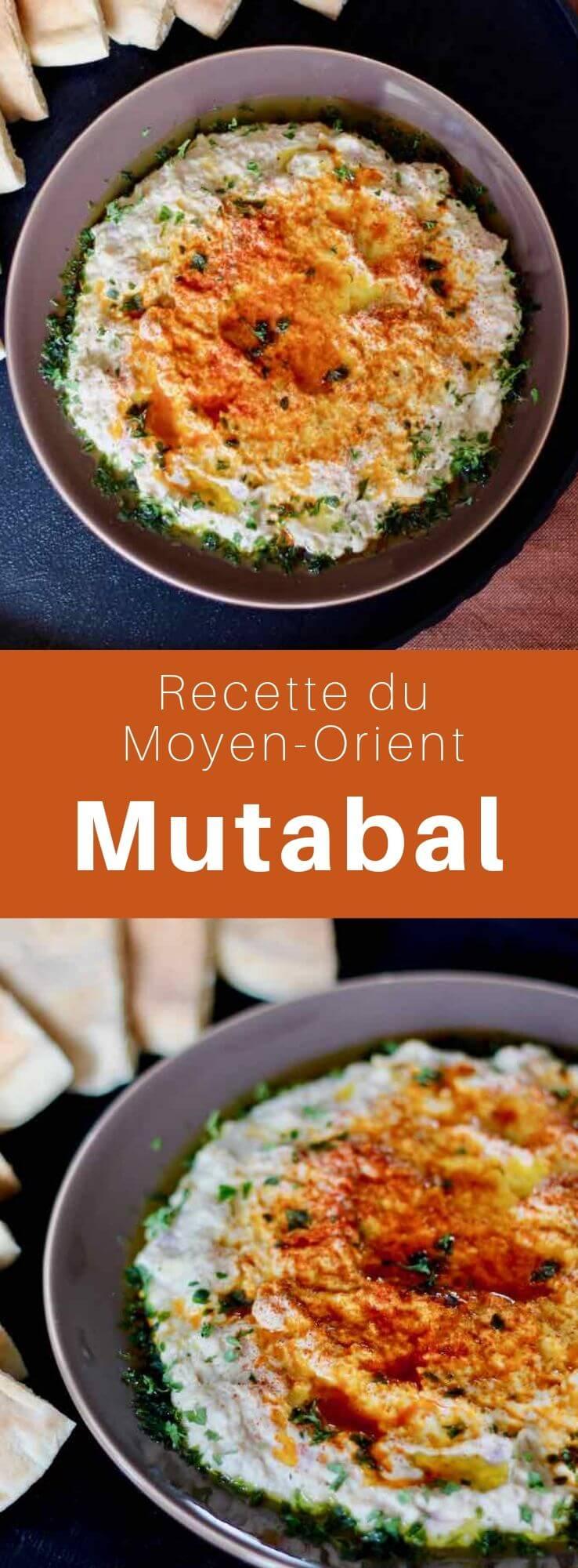 Le moutabal, un caviar d'aubergine né du baba ghanoush, est un mezzé tradionnel du Moyen-Orient à base d'aubergine, tahini, yaourt, citron et ail. #CuisineMoyenOrientale #MoyenOrient #CuisineArabe #RecetteArabe #CuisineDuMonde #196flavors