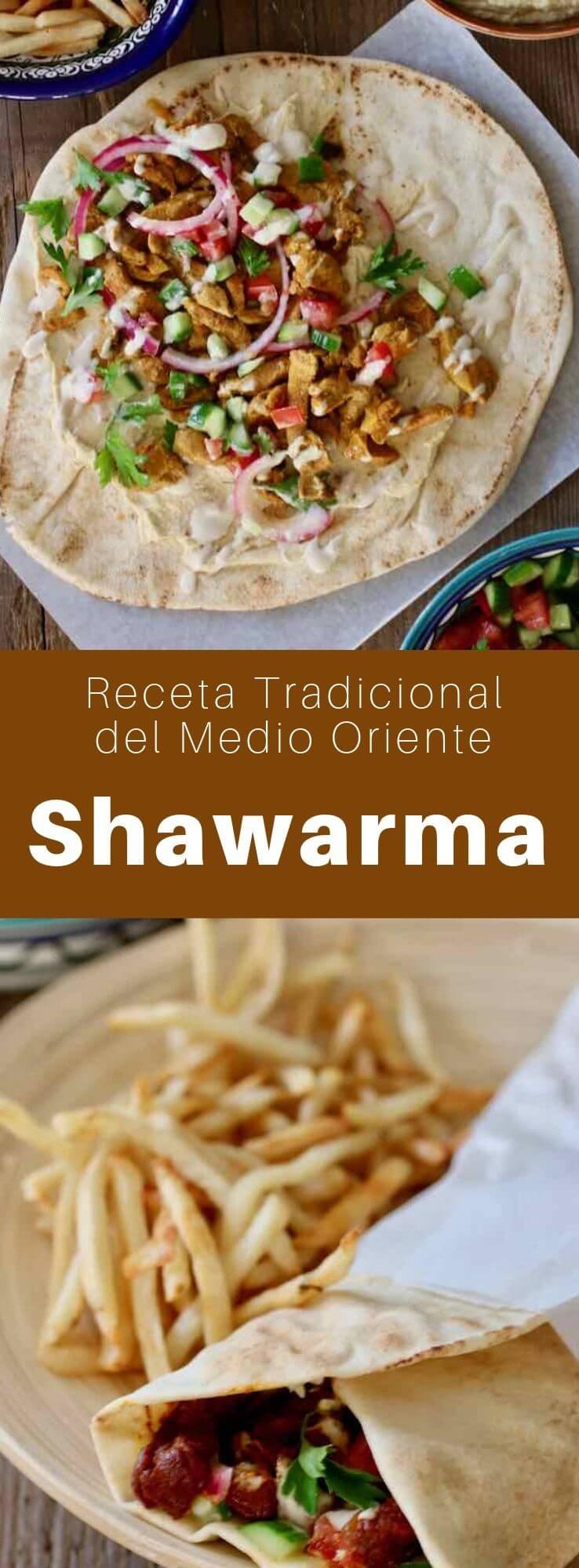 El shawarma es un plato popular en Siria, Turquía, Líbano, Egipto e Israel. A menudo se come como un sándwich con pan de pita. Se puede preparar con carne de cordero, pollo o res asada a fuego lento.