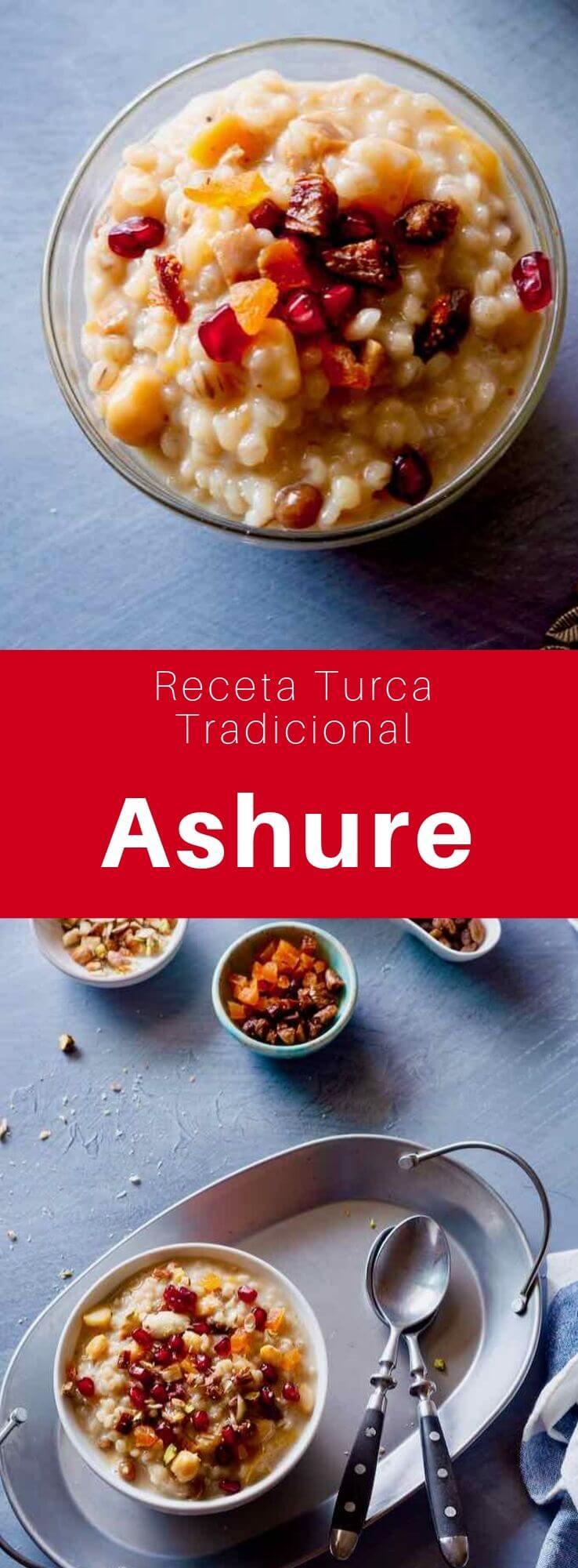 El ashure o pudín de Noé es un postre de origen turco compuesto de cereales y frutos secos. Es un plato tradicional que se sirve en el día de Achoura, el décimo día de Muharram.