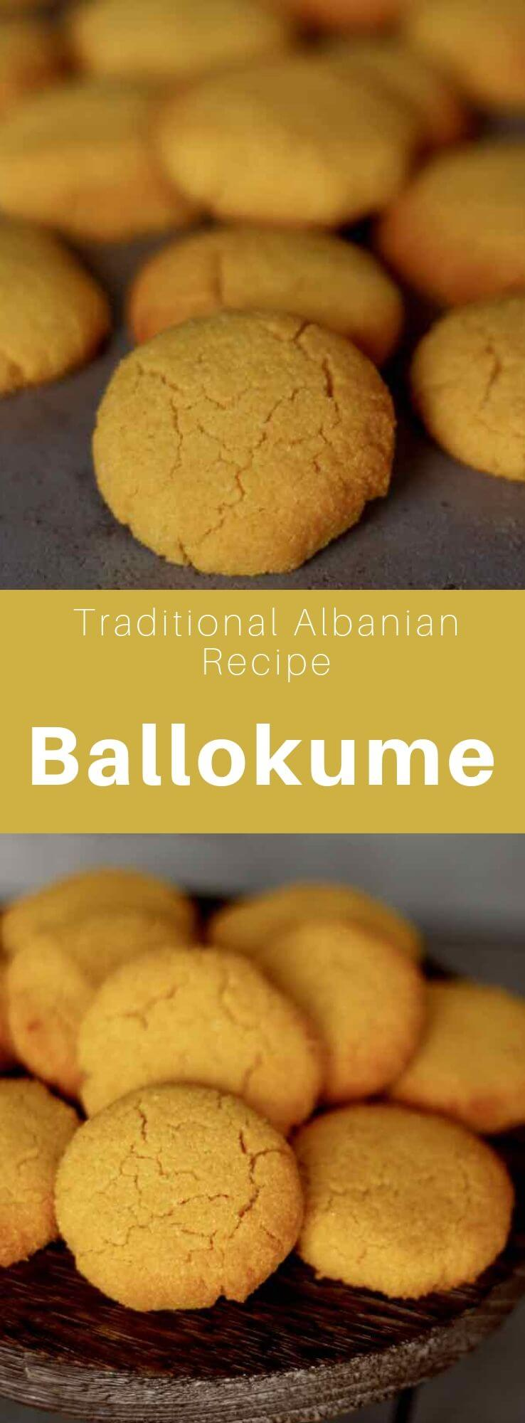 Ballokume is a traditional Albanian biscuit from the city of Elbasan, prepared from cornmeal, eggs, sugar, and butter and traditionally eaten on March 14th during Dita e Verës (Summer day). #Albania #AlbanianRecipe #AlbanianCuisine #DitaEVeres #Balkans #WorldCuisine #196flavors