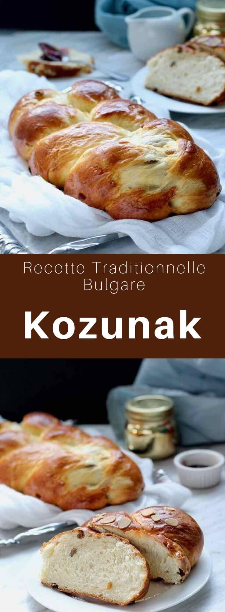 Le kozunak ou cozonac est une brioche traditionnelle aux raisins secs préparée pour Pâques ou pour Noël en Roumanie, Bulgarie, Moldavie, ou Albanie. #Bulgarie #Roumanie #Moldavie #Albanie #CuisineDuMonde #196flavors
