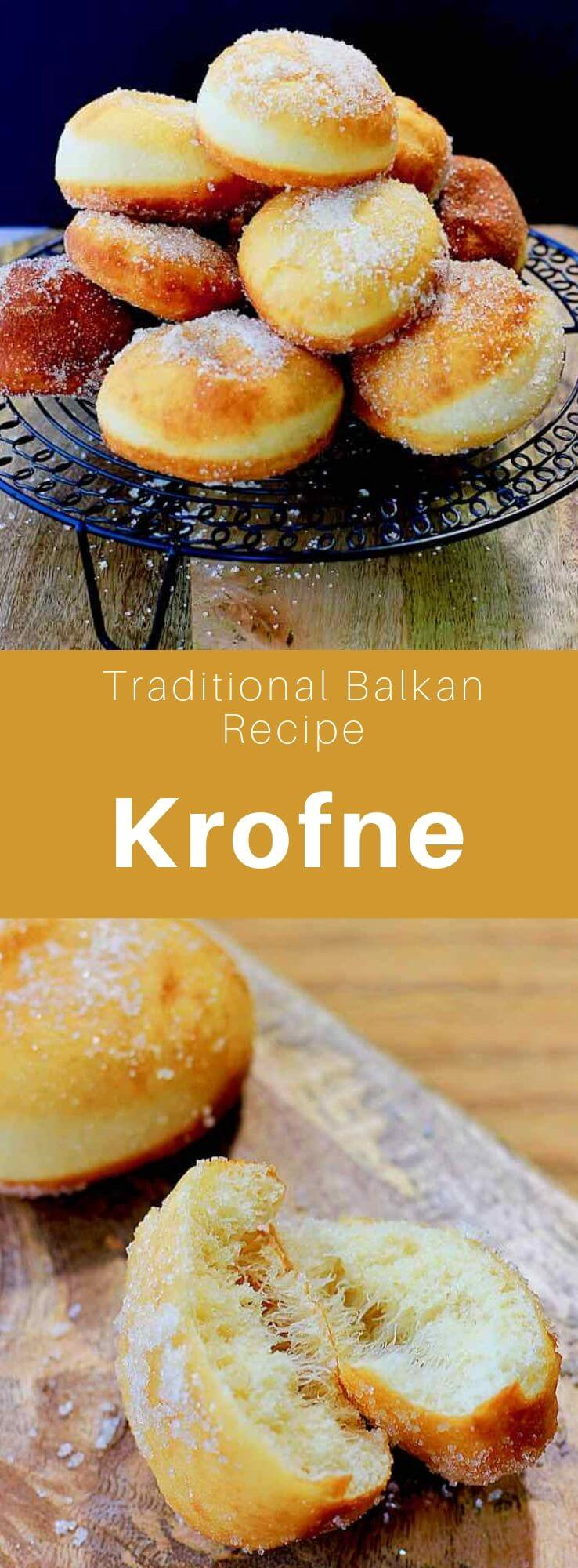 Krofne (krafne or krafna) is a Croatian and Serbian donut served especially before the beginning of the Great Lent and during the carnival. #SouthernEuropeCuisine #BalkansRecipe #SerbiaRecipe #BalkanCuisine #Serbian Cuisine #WorldCuisine #196flavors