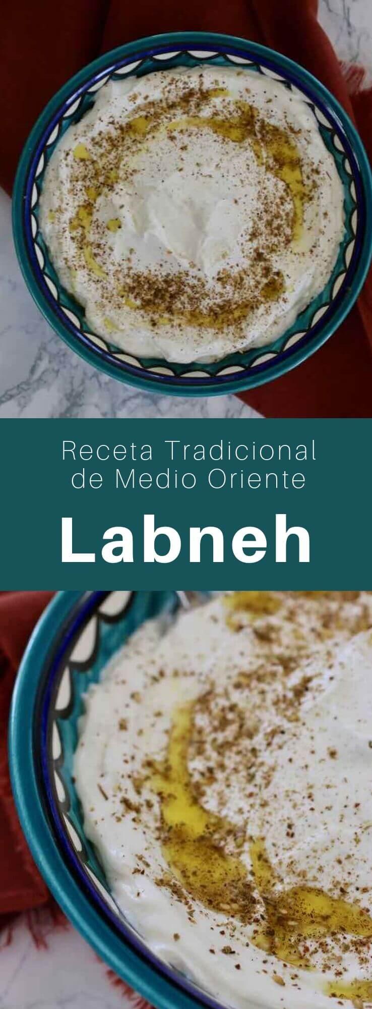 El labneh es una especialidad del Medio Oriente, un tipo de queso preparado a partir de un yogur elaborado con una leche rica que se escurre para eliminar la mayor parte del suero.