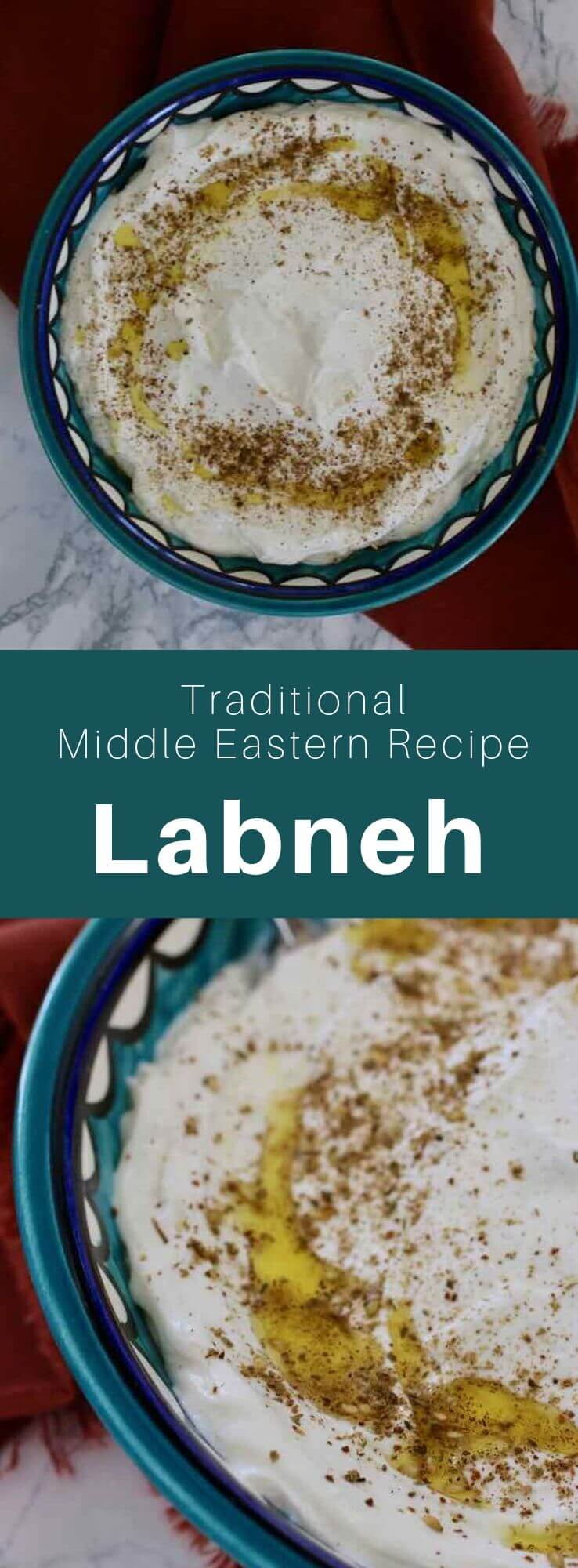 Labneh is a Middle Eastern specialty, a kind of cheese prepared with yogurt made from rich milk, which has been drained to remove most of its whey. #MiddleEast #MiddleEasternRecipe #MiddleEastCuisine #WorldCuisine #196flavors