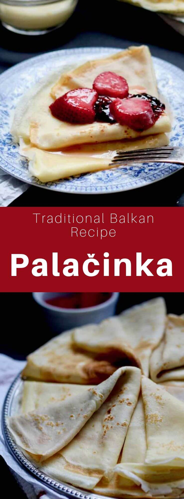 A palačinka is a variety of thin crepe of Greek and Roman origins that is popular in Central and Eastern Europe. #Macedonia #Balkans #WorldCuisine #196flavors