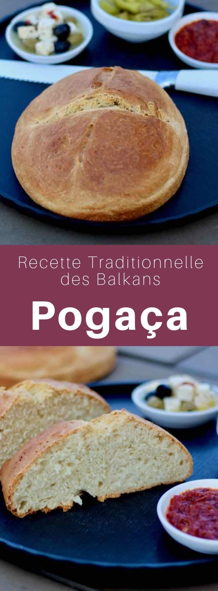 La pogača autrement appelé poğaça, pogace, pogácsa, pagáče, pohagata, pogacha est le pain que l'on retrouve sur toutes les tables des Balkans. #Balkans #Serbie #CuisineSerbe #RecetteSerbe #PainSerbe #PainDesBalkans #CuisineDuMonde #196flavors