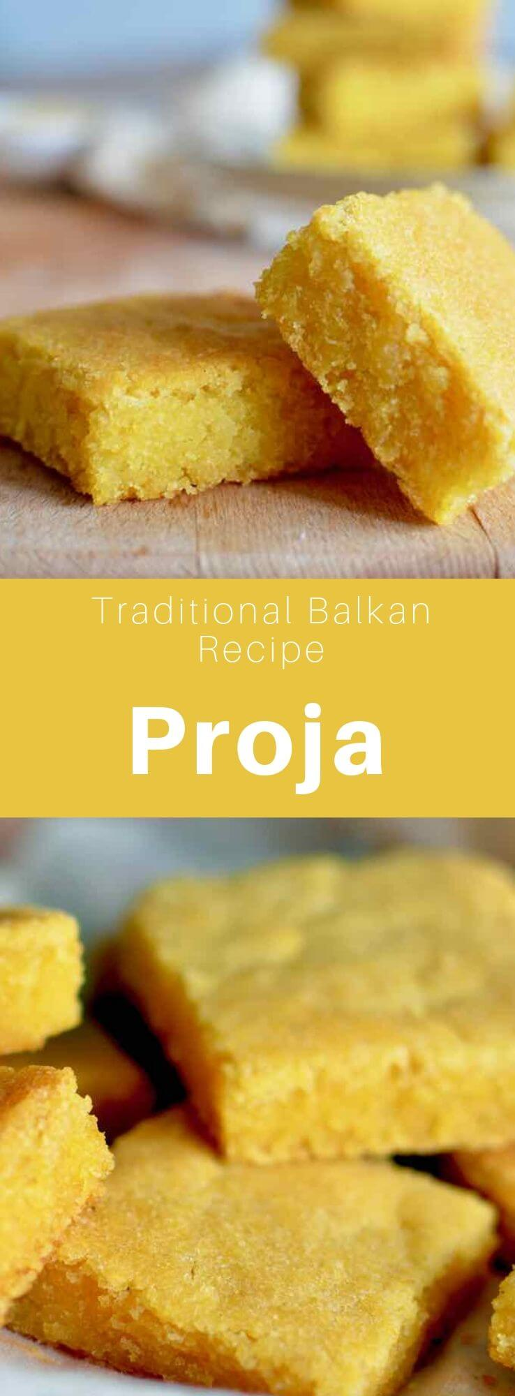 The proja is a traditional flatbread from the Balkan region that is made from cornmeal. It is called proha in Bosnia and Herzegovina. #Bosnia #Bakans #WorldCuisine #196flavors