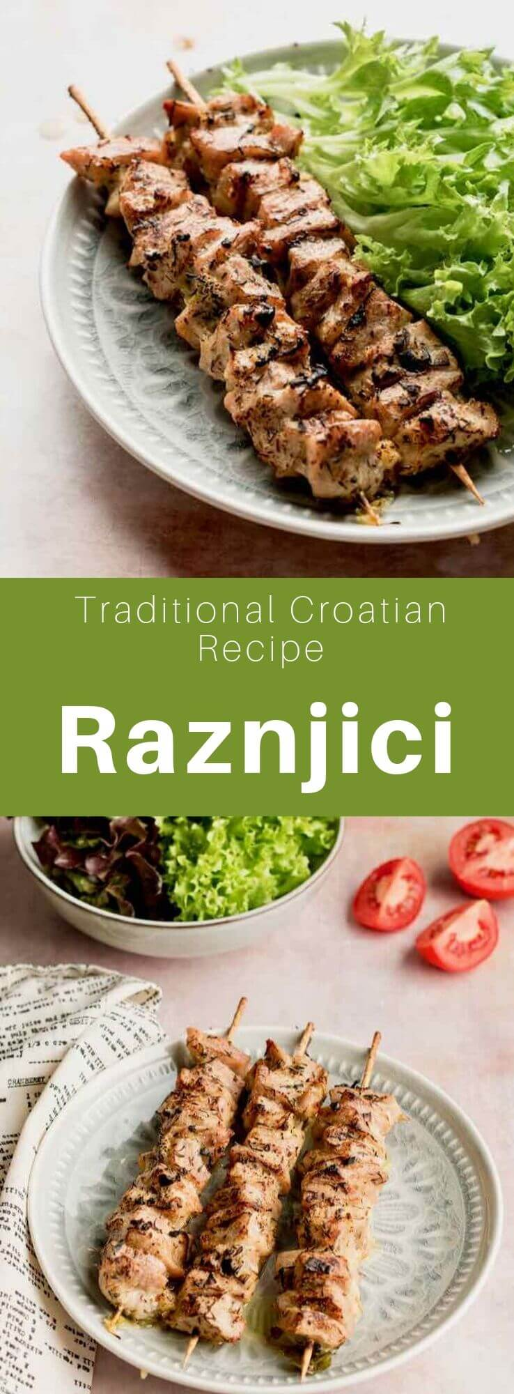 Ražnjići is a popular Balkan dish made from pork that is grilled on a barbecue. It is similar to Greek souvlaki and Turkish şaşlık. #Balkans #BalkanCuisine #BalkanRecipe #WorldCuisine #196flavors
