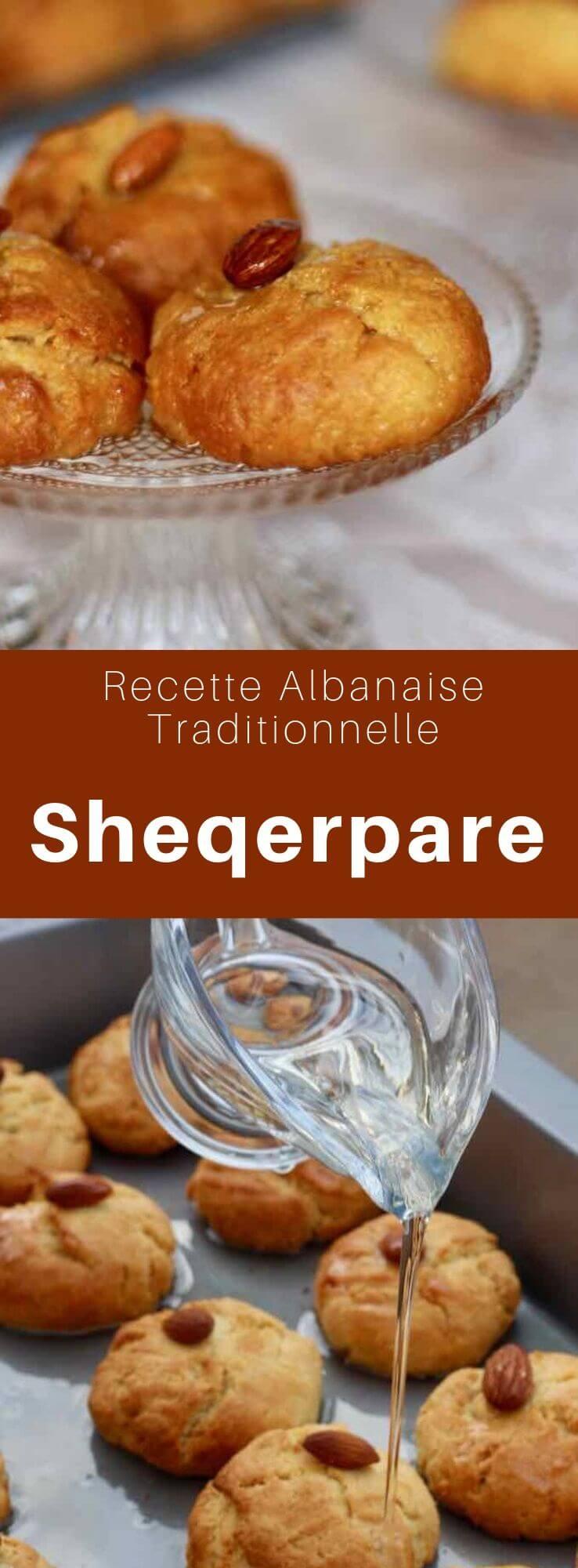 Les sheqerpare albanais sont des petits sablés au beurre imbibés de sirop de sucre. En Turquie, on les appelle şekerpare. #Albanie #Turquie #CuisineDuMonde #196flavors