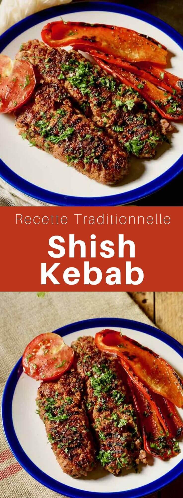 Le shish kebab est un plat populaire du Moyen-Orient composé de viande hachée d'agneau brochée et grillée. #MoyenOrient #RecetteMoyenOrientale #CuisineMoyenOrientale #CuisineDuMonde #196flavors
