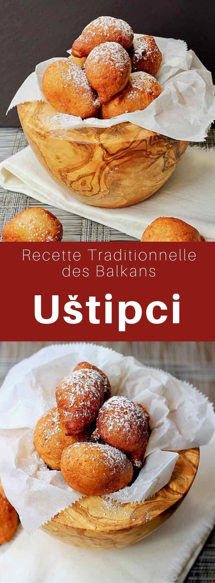 Les uštipci sont des boules de pâtes frites populaires en Bosnie-Herzégovine, Croatie, Macédoine du Nord, Serbie et Slovénie où elles sont connues sous le nom de miške. #Balkans #CuisineDuMonde #196flavors