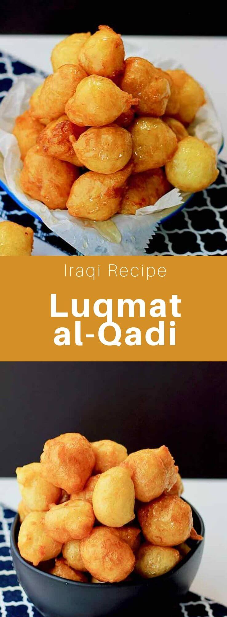 Luqmat al qadi (lokma or loukoumádes), is a pastry made from fried batter soaked in syrup, famous in the Gulf countries, Turkey and the Levant. #Iraq #IraqiCuisine #IraqiRecipe #MiddleEastern #WorldCuisine #196flavors