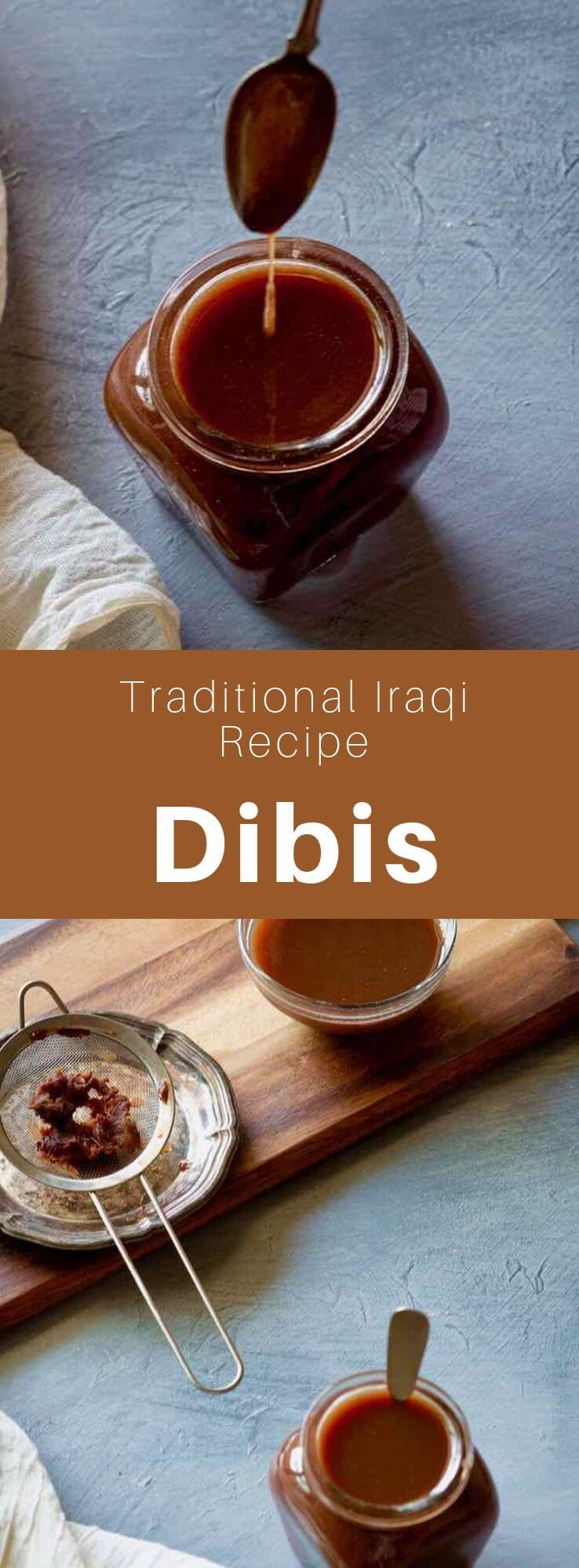 Dibis is a date syrup consumed in Iraq and most of the Middle East. It is a very nutritious natural sweetener. Iraqis use it in several culinary preparations. #MiddleEast #MiddleEastern #Iraq #IraqiCuisine #IraqiRecipe #MiddleEastern #WorldCuisine #196flavors