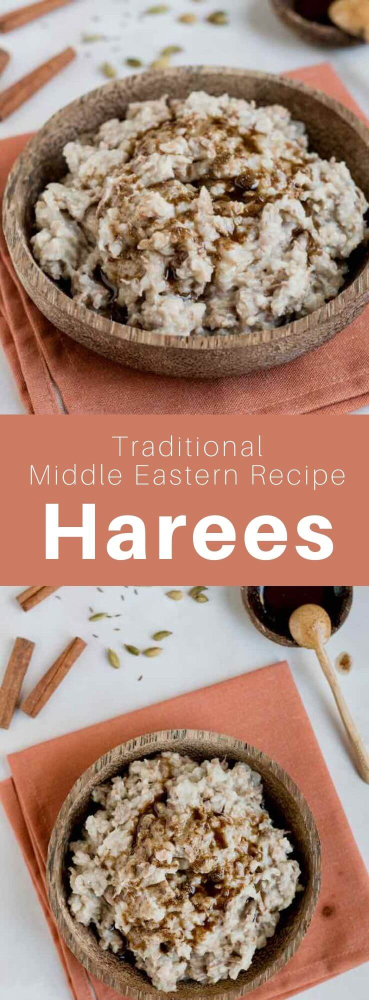 Harees, also called jareesh or harissa for Armenians is a dish of boiled, crushed or roughly ground wheat, mixed with lamb meat. It is equally popular in Iraq and other Persian Gulf states, especially during the month of Ramadan. #MiddleEast #MiddleEastern #Armenia #ArmenianCuisine #ArmenianRecipe #WorldCuisine #196flavors
