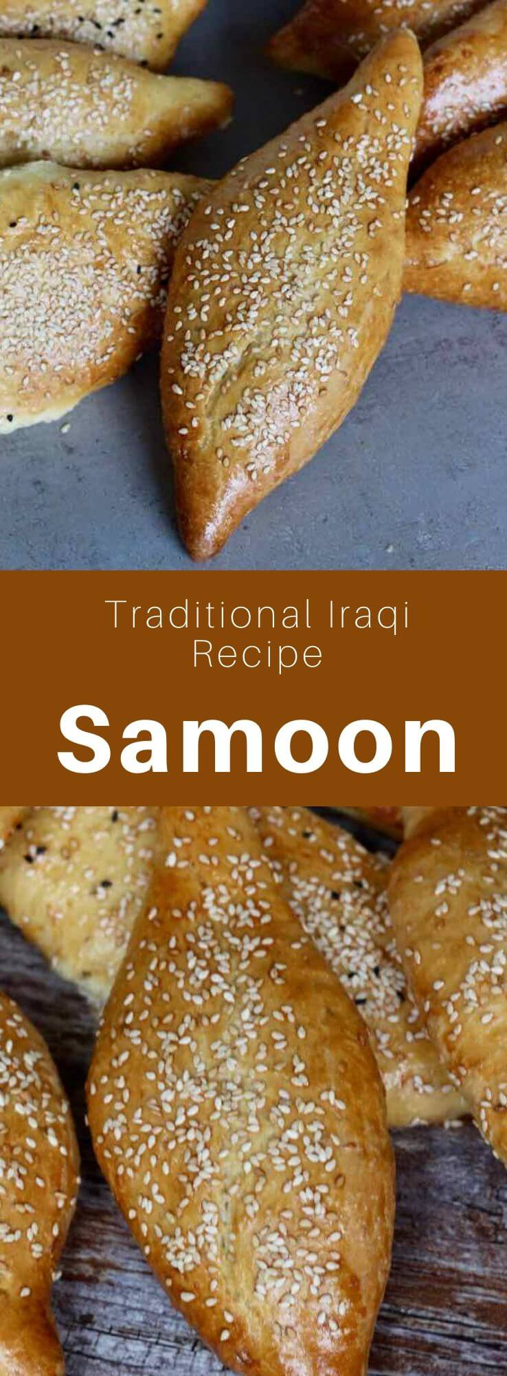 Samoon is one of the most popular breads in Iraq. Variations exist in Syria, Lebanon, Kuwait and Saudi Arabia. #MiddleEast #MiddleEastern #Iraq #IraqiCuisine #IraqiRecipe #WorldCuisine #196flavors