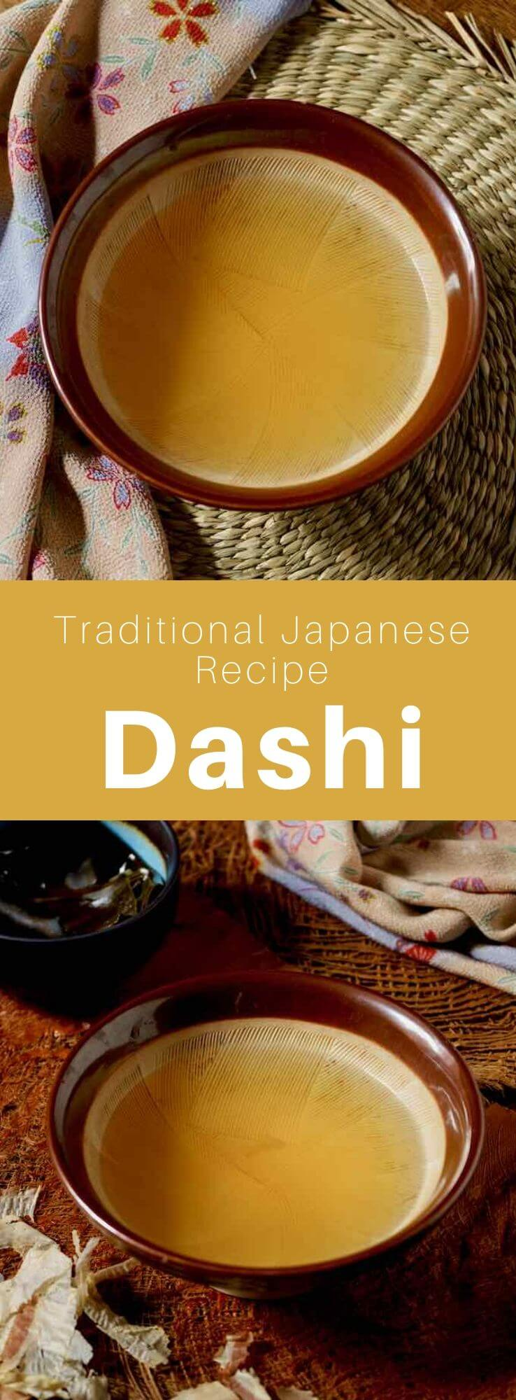 Dashi (出 汁) is a delicious broth of konbu seaweed and katsuobushi (dried bonito flakes) that is a staple in Japanese cuisine. #Japan #Japanese #JapaneseFood #JapaneseCuisine #JapaneseRecipe #AsianCuisine #AsianFood #AsianCuisine #WorldCuisine #196flavors