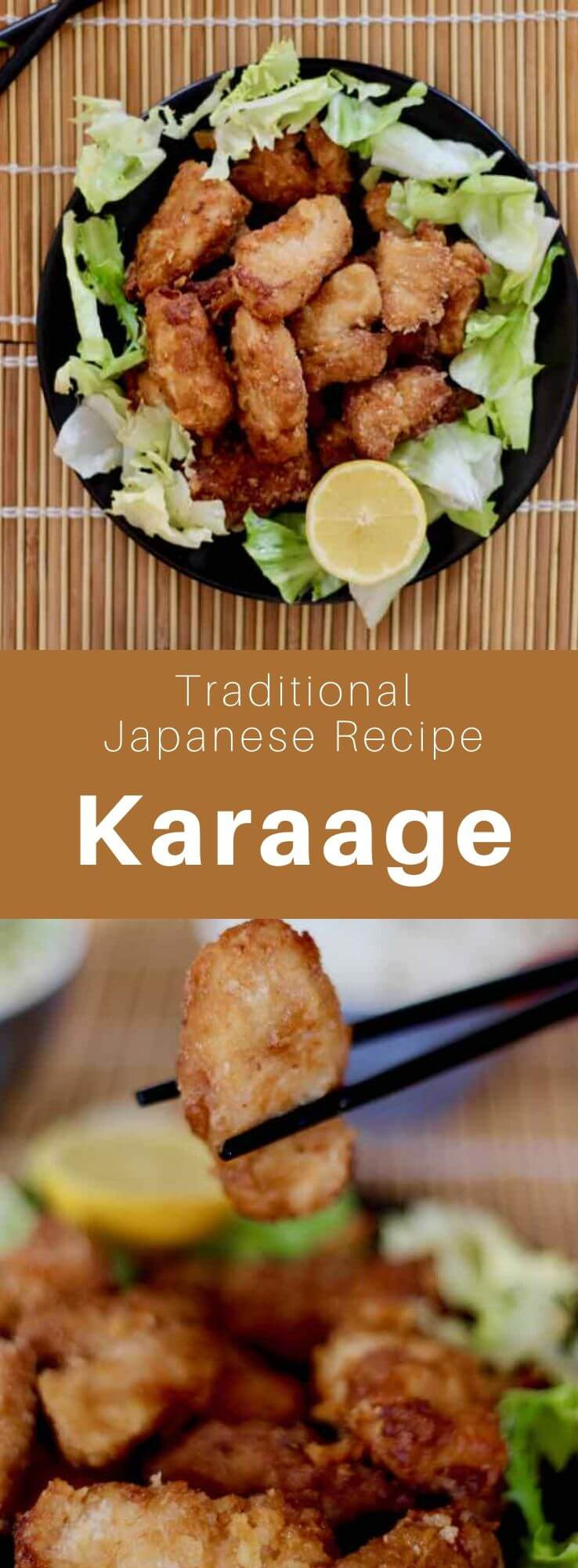 Karaage (唐揚げ) is a Japanese cooking technique in which the ingredients, mainly meat or fish, are marinated and then fried in oil. #Japan #Japanese #JapaneseFood #JapaneseCuisine #JapaneseRecipe #AsianCuisine #AsianFood #AsianCuisine #WorldCuisine #196flavors