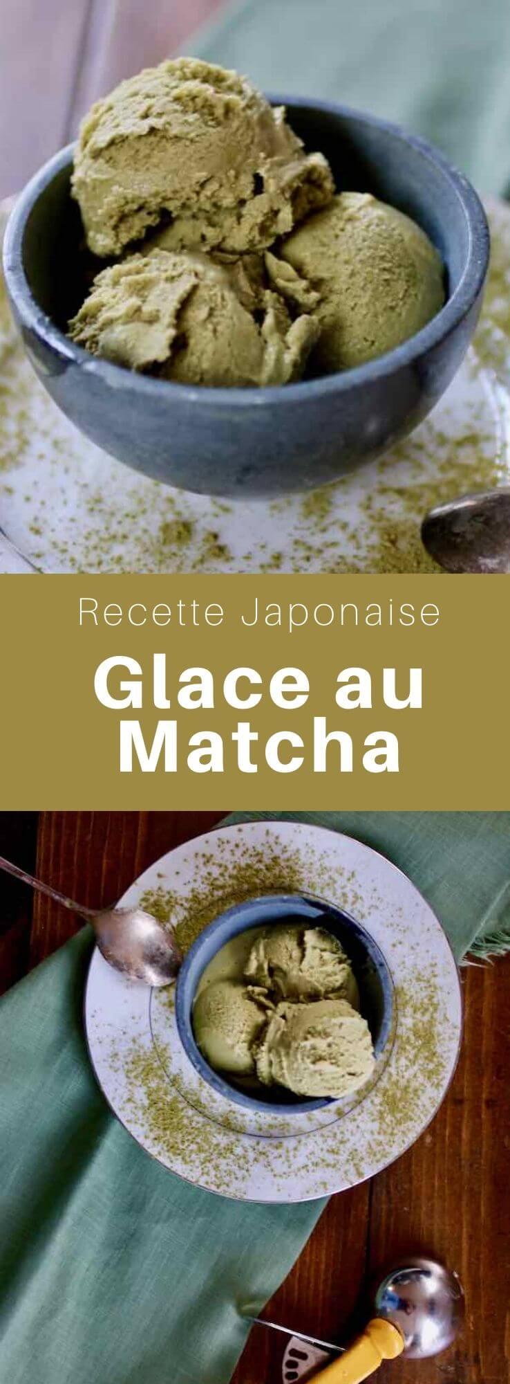 La crème glacée au matcha ou crème glacée au thé vert est un parfum de glace qui est très prisé au Japon ainsi que dans d'autres régions d'Asie. #Japon #CuisineJaponaise #RecetteJaponaise #CuisineDuMonde #196flavors