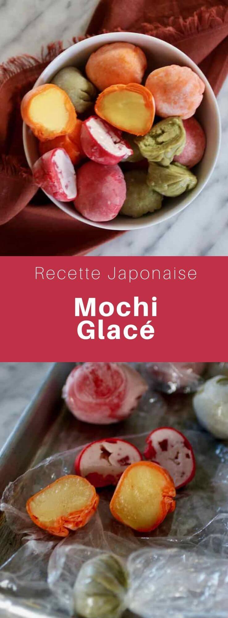 Le mochi glacé est un dessert japonais consistant en une enveloppe de farine de riz gluant renfermant une boule de crème glacée. #Japon #CuisineJaponaise #RecetteJaponaise #CuisineDuMonde #196flavors