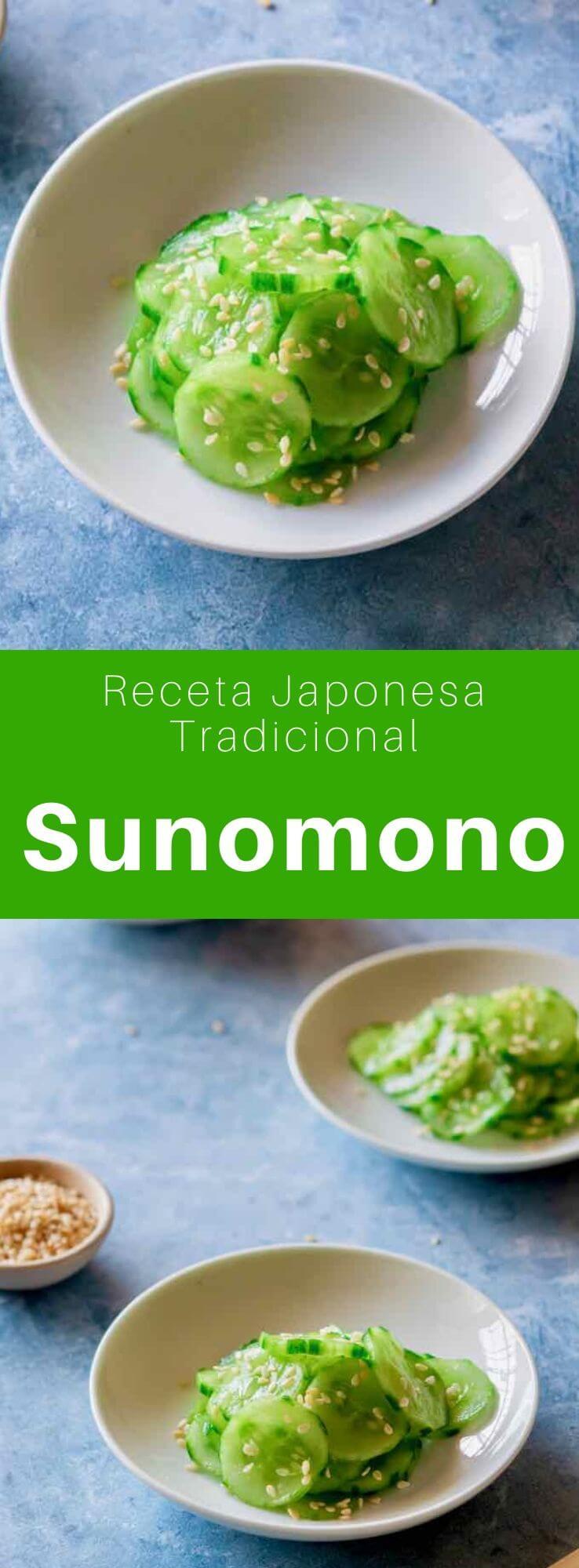 El sunomono (の 物) o kiyuri namasu es una variedad de namasu. Se trata de un platillo japonés elaborado con verduras crudas (en este caso pepino), en rodajas finas y marinadas en vinagre.