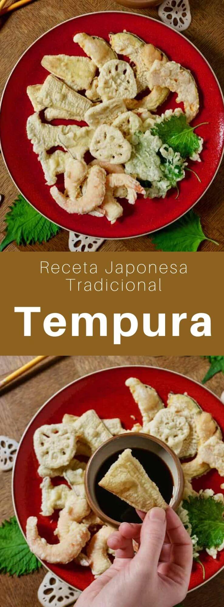 La tempura (天ぷら) es un surtido de buñuelos de camarones y verduras deliciosamente crujientes, que son muy populares en Japón.