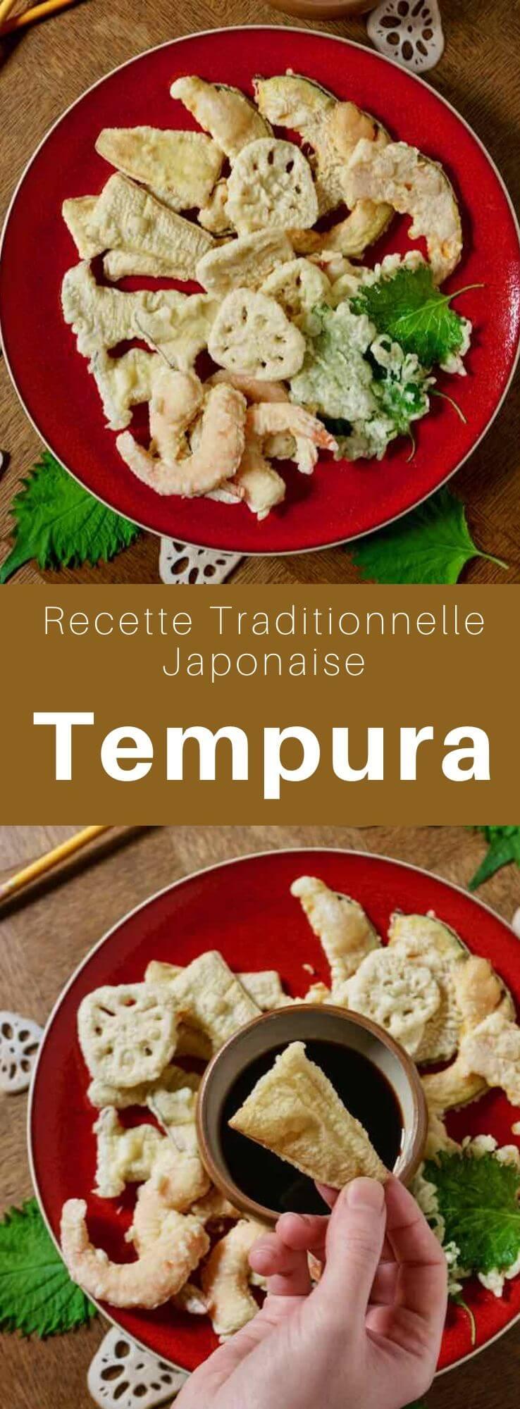 Le tempura (天ぷら ) est un assortiment de beignets de crevettes et de légumes frits délicieusement croustillants, très populaire au Japon. #Japon #CuisineJaponaise #RecetteJaponaise #CuisineDuMonde #196flavors
