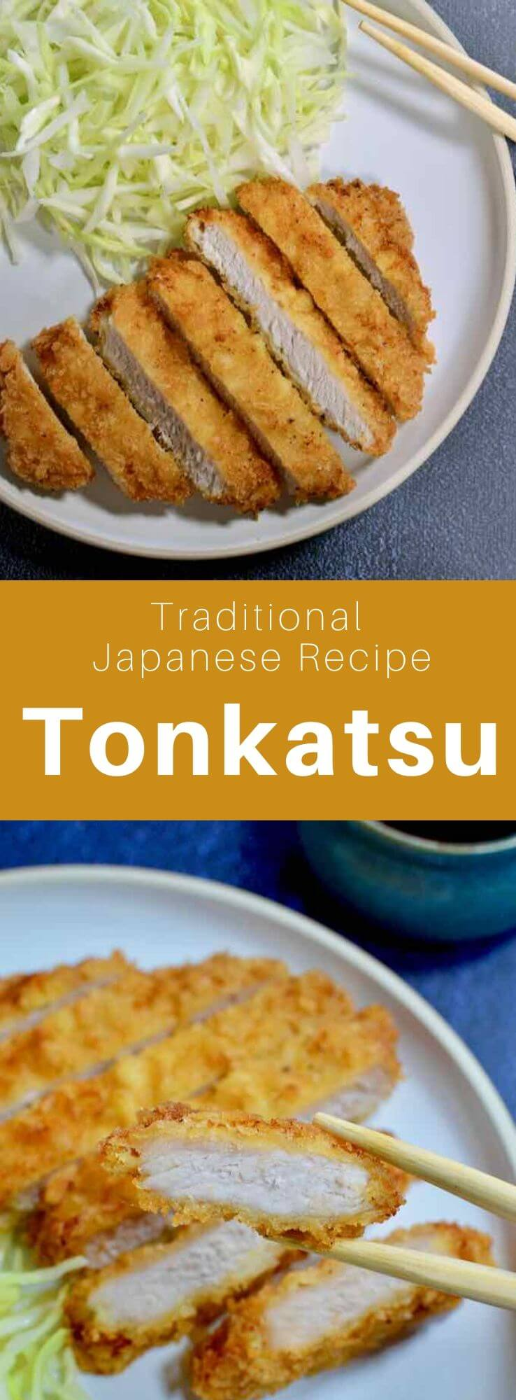 Tonkatsu (豚 カ ツ) is a delicious traditional Japanese dish that is prepared with breaded pork cutlets that are deeo-fried. #Japan #Japanese #JapaneseFood #JapaneseCuisine #JapaneseRecipe #AsianCuisine #AsianFood #AsianCuisine #WorldCuisine #196flavors