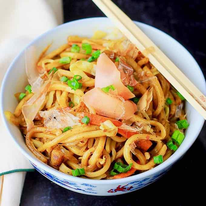 Ricetta Yaki Udon.Yaki Udon Traditional Japanese Recipe 196 Flavors
