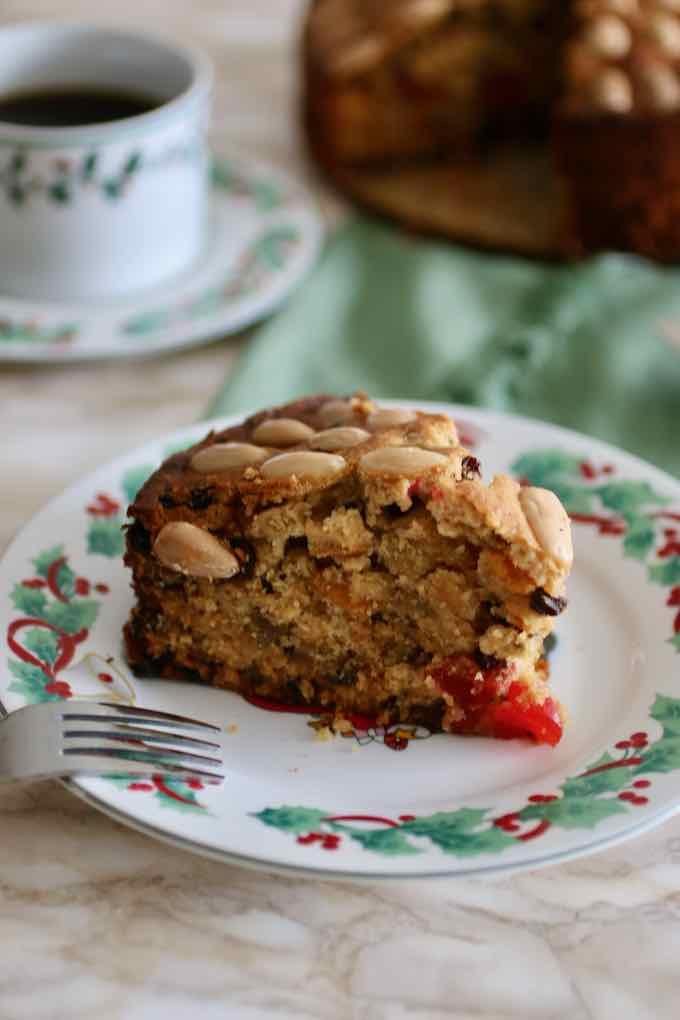 Dundee Cake slice