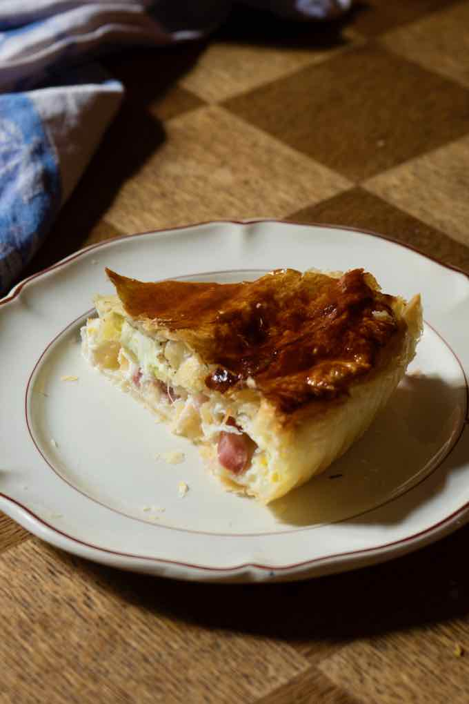 traditional bacon and egg pie