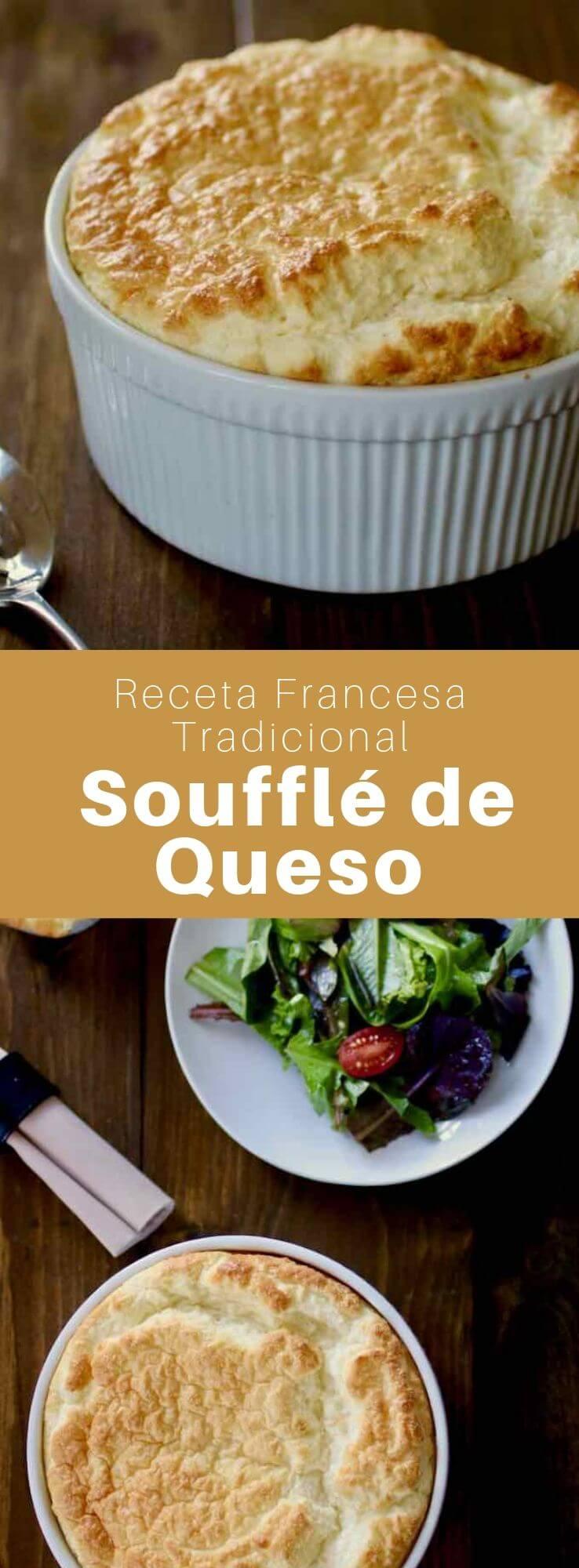 El suflé de queso es una especialidad clásica francesa. Es un tipo de suflé que se prepara con queso, bechamel y huevos.