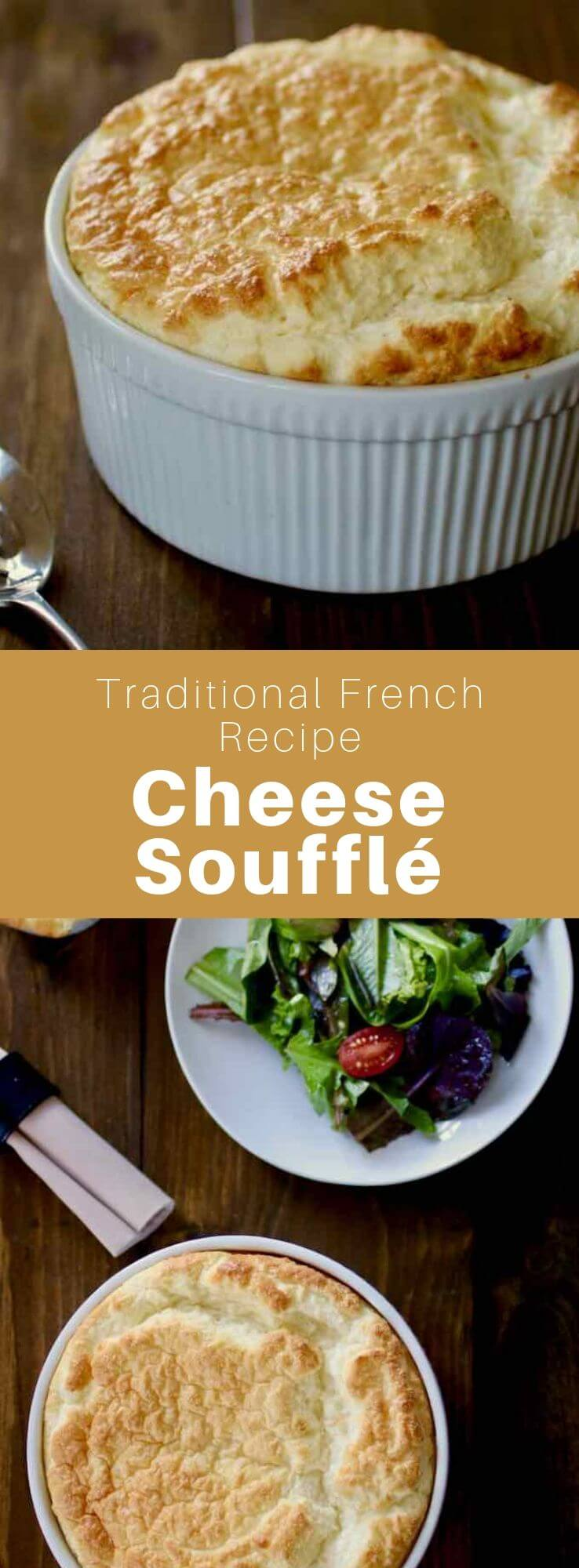 Cheese soufflé is a classic French specialty. It is a type of soufflé that is prepared with cheese, béchamel and eggs. #French #France #FrenchRecipe #WorldCuisine #196flavors