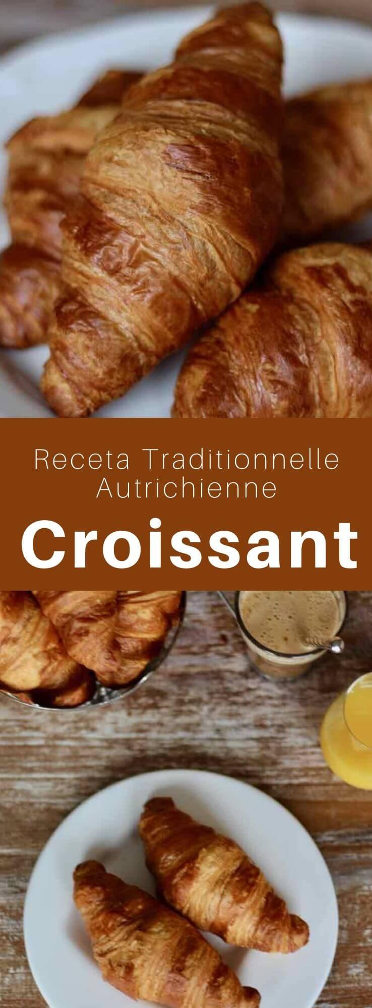 Le croissant est une viennoiserie faite de pâte levée feuilletée et de beurre, originaire de Vienne et incontournable du petit déjeuner français. #Autriche #Autrichien #RecetteAutrichienne #France #Francais #CuisineFrancaise #CuisineDuMonde #196flavors