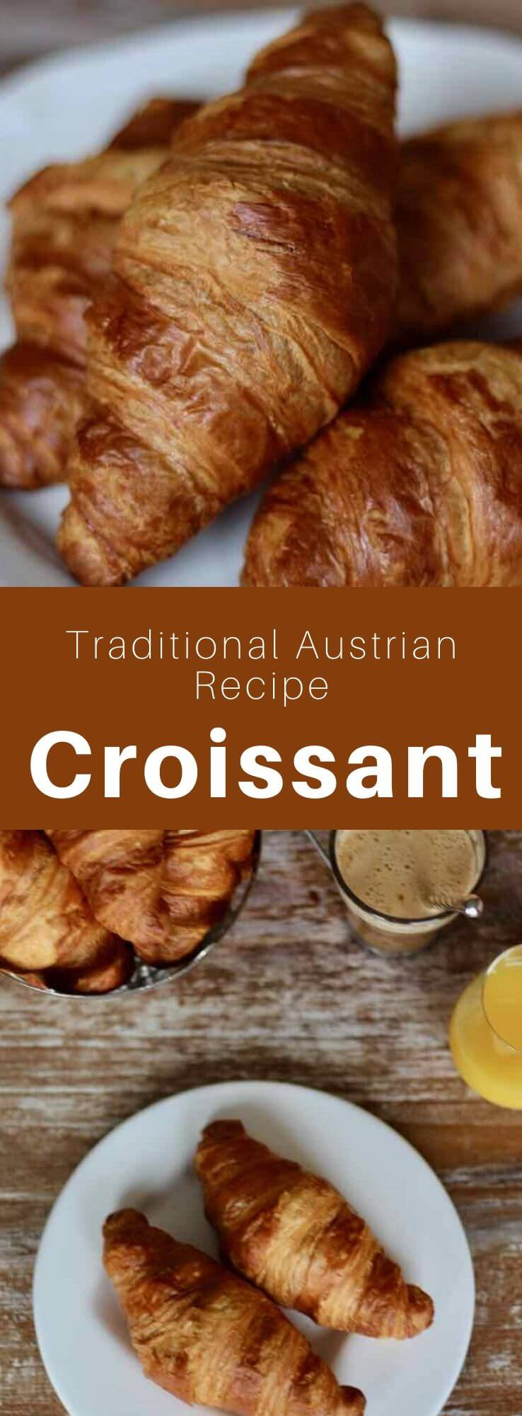 The croissant is a pastry made with leavened puff pastry and butter, originating in Vienna and now an essential item of French breakfasts. #French #FrenchBreakfast #Austria #AustrianCuisine #WorldCuisine #196flavors