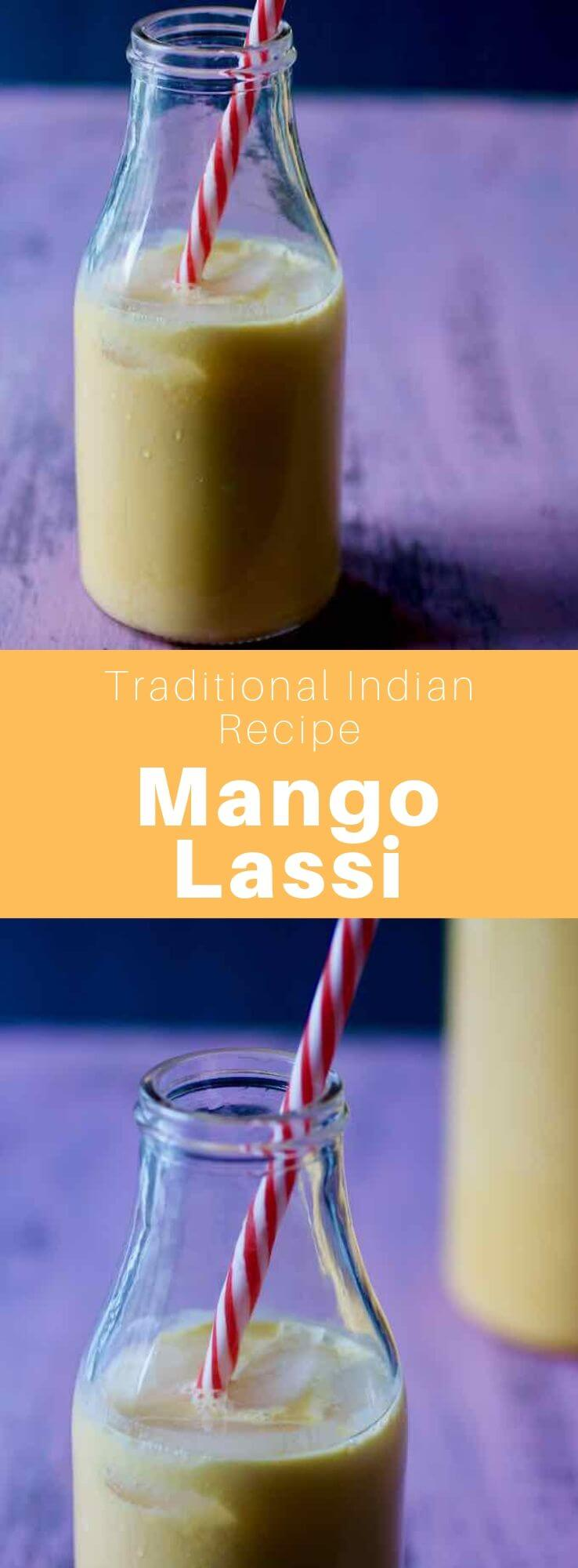 Mango lassi is a deliciously sweet drink, very popular in India, that is prepared with dahi (yogurt), milk and mango pulp. #India #IndianCuisine #IndianRecipe #WorldCuisine #196flavors