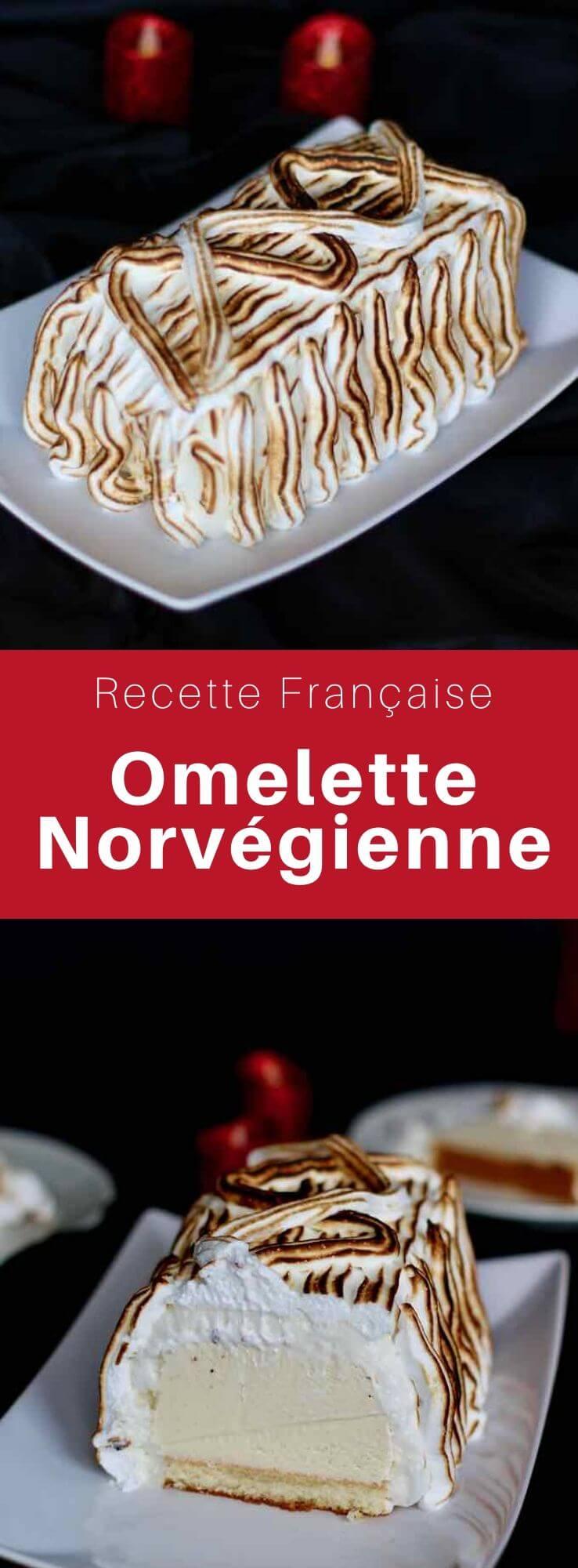 L'omelette norvégienne est un dessert à base de glace à la vanille recouverte de meringue posée une génoise, et passée au four puis flambée au Grand Marnier. #France #French #FrenchCuisine #FrenchDessert #CuisineDuMonde #196flavors