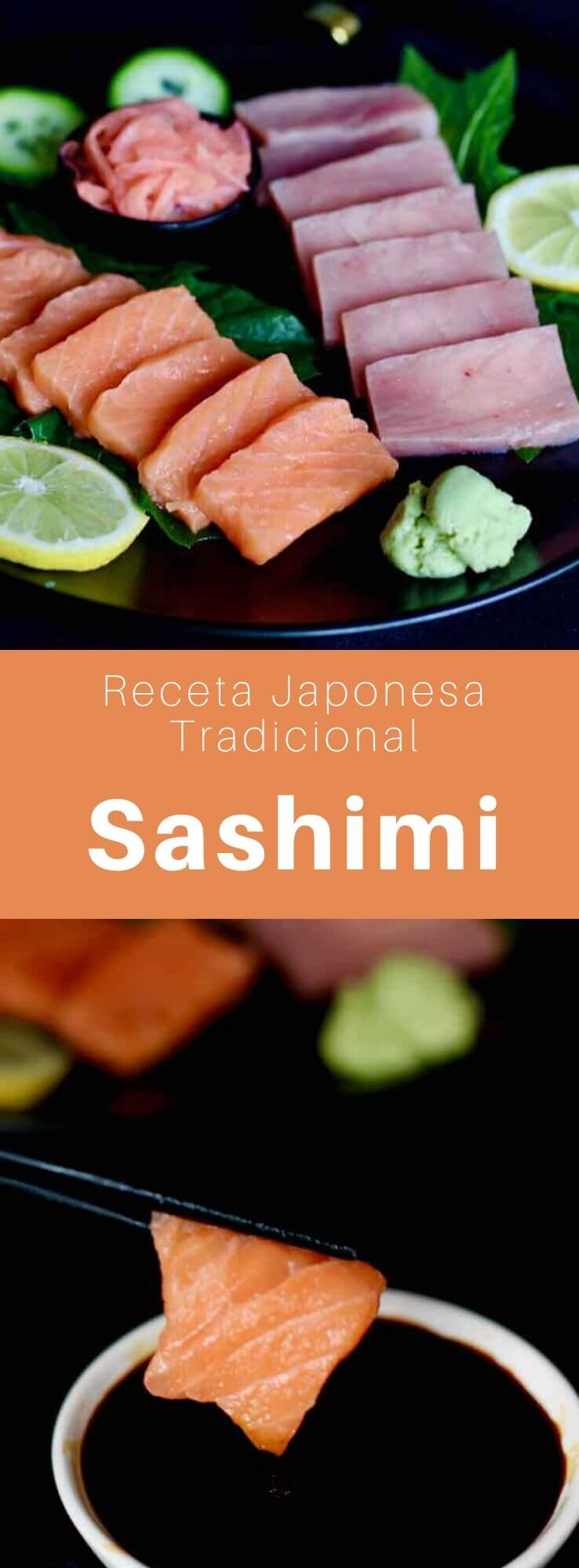 El sashimi (刺身) o shashimi es un platillo tradicional y delicioso de la cocina japonesa, preparado con rodajas crudas de pescado fresco o mariscos.