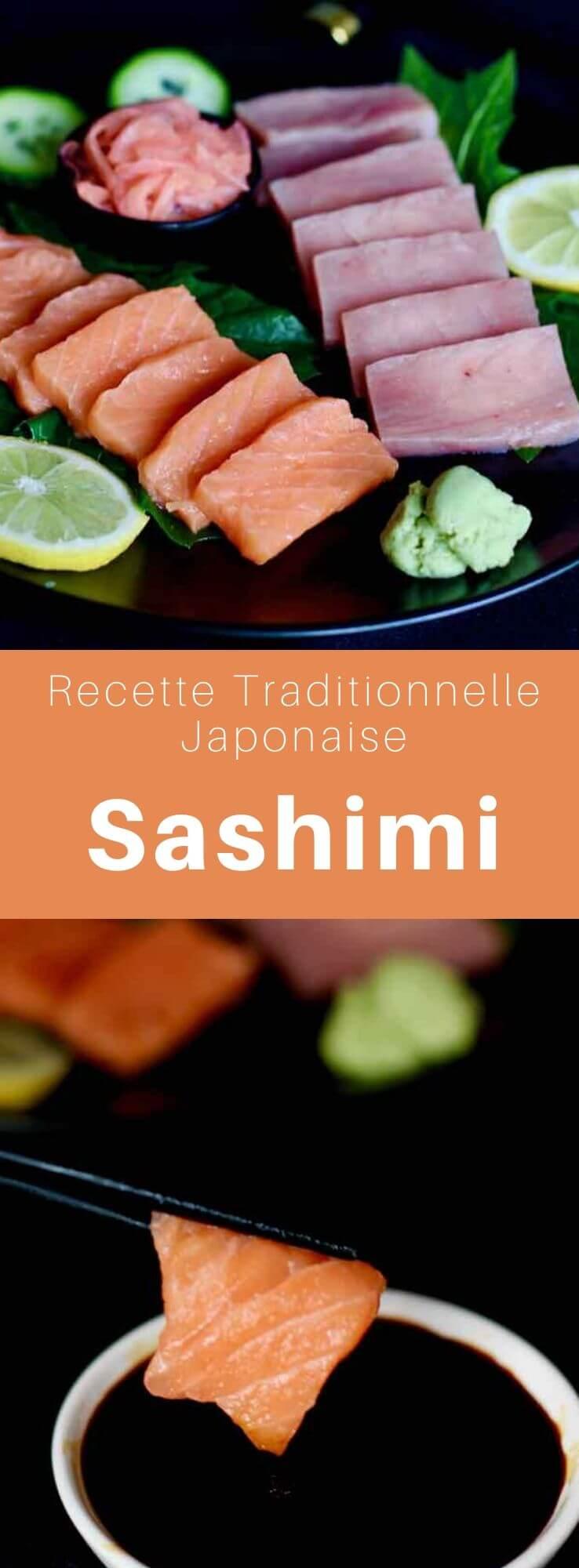 Le sashimi (刺身) ou shashimi est un mets traditionnel de la gastronomie japonaise, composé de tranches de poisson ou crustacés frais consommées crues. #Japon #CuisineJaponaise #RecetteJaponaise #CuisineDuMonde #196flavors
