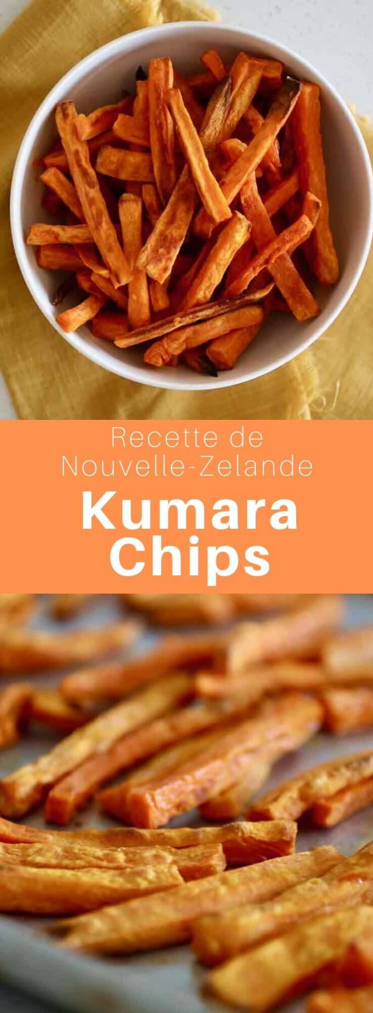 Les kumara chips sont de délicieuses frites de patate douce, qui sont populaires sous ce nom d'origine maorie en Nouvelle-Zélande. #NewZealand #WorldCuisine #196flavors