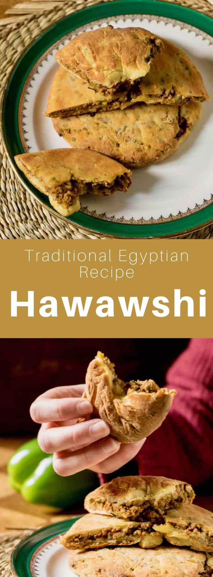 Hawawshi is a delicious traditional sandwich from Egypt that is prepared with flat bread that is stuffed with spicy ground meat. #Egypt #EgyptianCuisine #EgyptianFood #EgyptianRecipe #WorldCuisine #196flavors