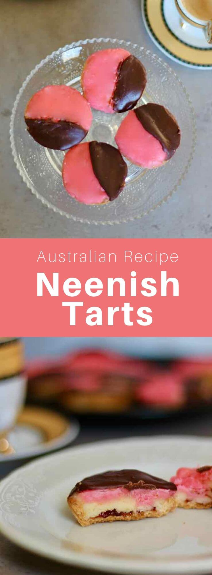 The neenish tart is a tartlet made with a filling of gelatin cream and two-tone icing that is popular in Australia and New Zealand. #Australia #NewZealand #WorldCuisine #196flavors