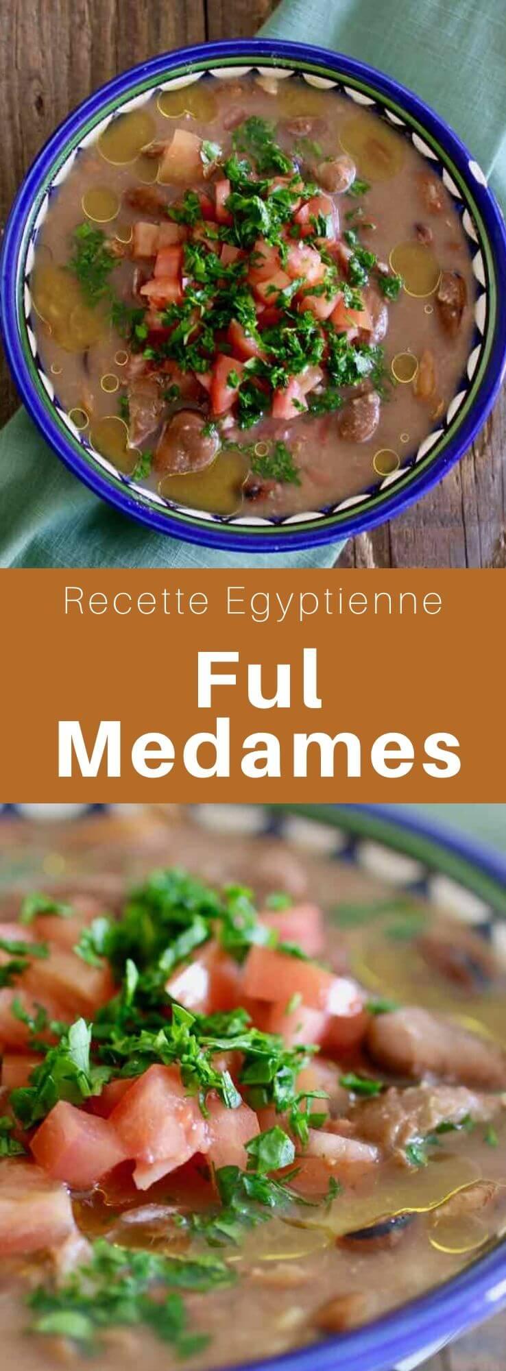 Les ful medames sont un petit-déjeuner végétalien d'Egypte et du Moyen-Orient à base de fèves au jus de citron, à l'ail, à l'huile d'olive et au cumin. #Egypte #RecetteEgyptienne #CuisineEgyptienne #CuisineDuMonde #196flavors