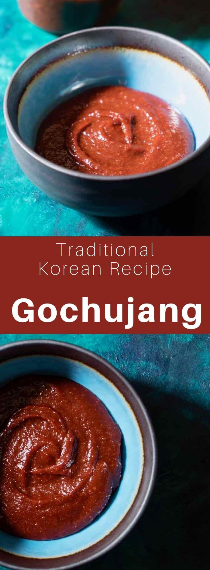Gochujang (고추장) is a spicy Korean fermented condiment made from red peppers, meju (fermented soybean paste), sticky rice flour and wheat germ. #KoreanFood #KoreanRecipe #KoreanCuisine #WorldCuisine #196flavors