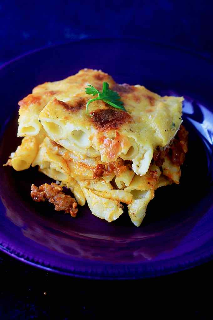 authentic macaroni bechamel