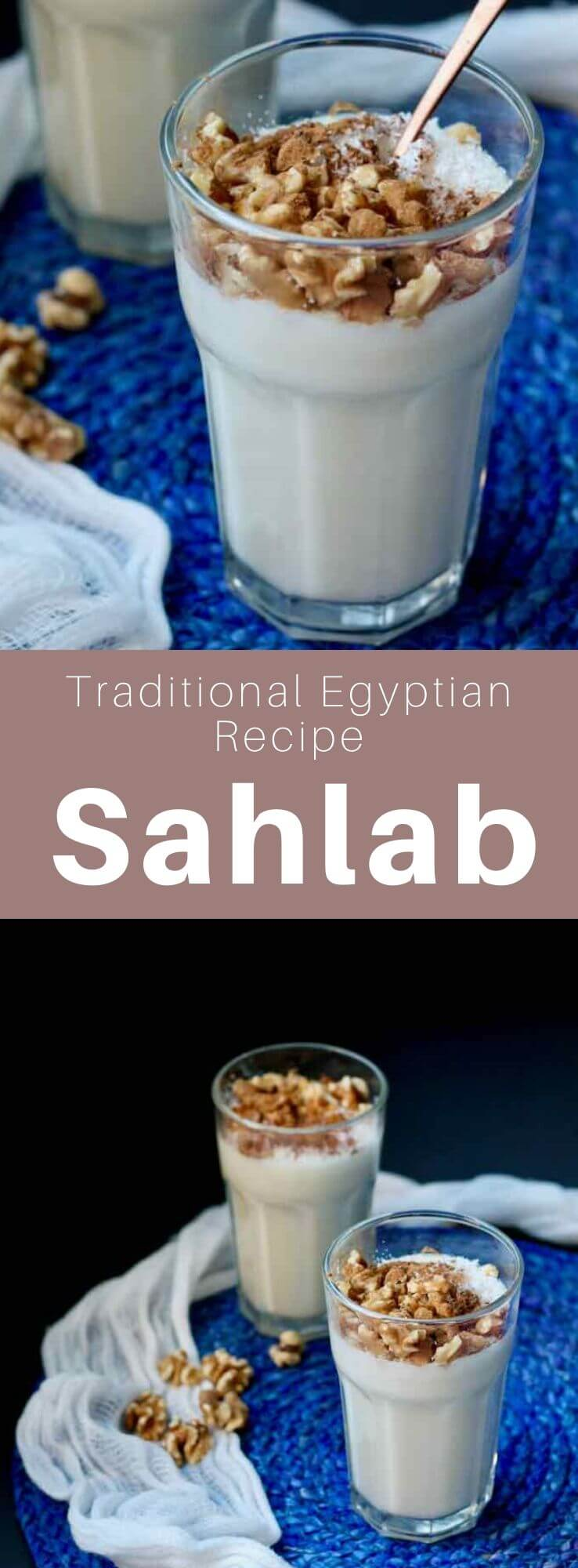Sahlab (salep) is a popular creamy hot drink in the cuisines of the former Ottoman empire, prepared with sahlab obtained from the dried tubers of an orchid. #Egypt #EgyptianCuisine #EgyptianFood #EgyptianRecipe #WorldCuisine #196flavors